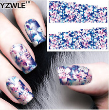 Nail Art Water Decals Stickers Transfers Pretty Flowers (A-69)