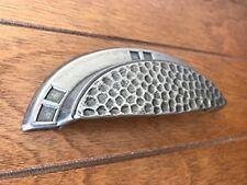 Sonoma Hardware Mission Craftsman Cup Pull Antique Pewter Hammered Bin Handle