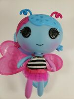 "Lalaloopsy doll pink  & blue  butterfly wings - 8"" tall"