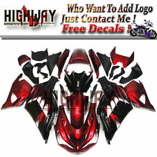 Body For Kawasaki ZX-14R 12-15 ABS Injection Fairings Kit Bodywork Red Black New