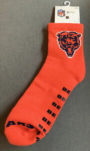 NEW OLD STOCK NFL Chicago Bears Slipper Socks With Grippers VINTAGE STYLE Men's.