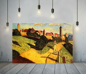 KADINSKY 14-FRAMED CANVAS ABSTRACT WALL ART PICTURE PAPER PRINT- YELLOW VILLAGE