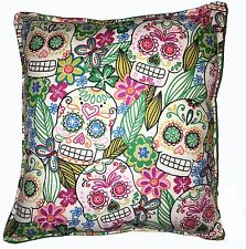 Skulls Pillow Handmade In USA Aztec Skulls Day Of The Dead Pillow Día de Muertos