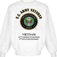 VIETNAM 15TH COMBAT ENGINEERS 9TH INFANTRY DIVISION ARMY EMBLEM SWEATSHIRT