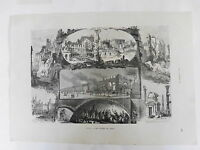 LES RUINES DE PARIS GRAVURE originale la GUERRE et la COMMUNE 1870 1871