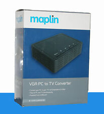 MAPLIN VGA PC TO TV CONVERTER -    A55NB  - RRP= £59.99