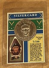 1992 Silver Card The Money Co Ty Cobb .999 Coin And Trading Card Rare Hard Find