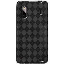 Black TPU Gel Skin Case Cover For HTC EVO Design 4G