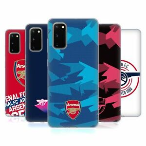 OFFICIAL ARSENAL FC CREST AND GUNNERS LOGO SOFT GEL CASE FOR SAMSUNG PHONES 1