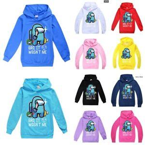 Among Us Impostor Game Kids Hoodie Hooded Sweatshirt Crewmate Youtube Hoody Gift