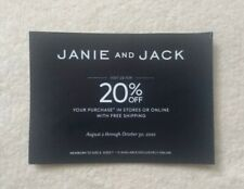 New Coupon 20% Off Janie And Jack Purchase Expires October 30, 2020