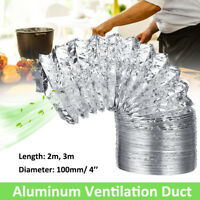 4'' Ducting Aluminum Flexiable Air Extractor Ventilation Duct Hydroponics