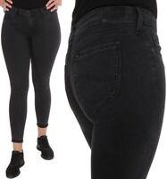 Lee Damen Jeanshose Scarlett Skinny Low Waist Worn Black Grau W30 - W31