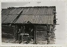 PHOTO ANCIENNE - VINTAGE SNAPSHOT - SPORT SKI MONTAGNE REFUGE -SKIING MOUNTAIN 3