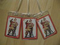 Coca Cola Luggage Tags - Coke Santa Claus Vintage Playing Card Name Tag Set (3)