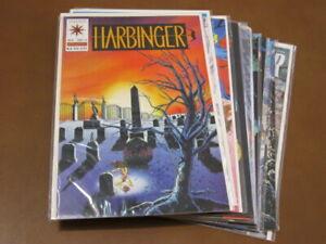 HARBINGER 11-BOOK COLLECTION FN-VF VALIANT COMICS 1993 JIM SHOOTER DAVID LAPHAM