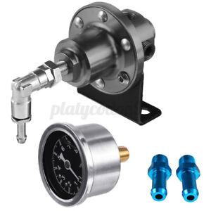 Universal Adjustable Car Auto Fuel Pressure Regulator W/KPa Oil Gauge 0-16PSI US