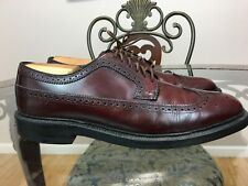Hanover LB Sheppard Signatures 2313 Wingtips Brown (Burgundy) Leather  10.5 #001