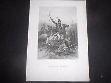 1840 INCISIONE GIACCHINO MURAT RE NAPOLI INCISORE ROBINSON DA LOUIS DAVID