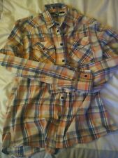 Carbon 2  Men's Size M Medium Multicolor Check Casual Button Down Shirt