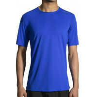 Brooks Mens Ghost Running T Shirt Tee Top Blue Sports Breathable Lightweight