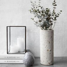 House Doctor Vase Vulkan wei�Ÿ Blumenvase vintage Deko skandi interior design