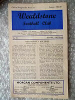 1960/61 Athenian League Senior Section WEALDSTONE v SOUTHALL, 25 March