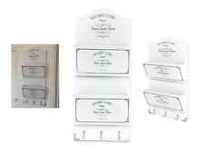 Clave De Madera Blanco De Shabby Chic Rack 6 Ganchos Soporte Organizador Hogar dulce hogar ordenado