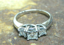 .79 TCW I Si-1 14k White Gold Three Stone Diamond Engagement Ring ~Size 7+