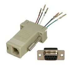 DB9pin Female~RJ12/RJ11 Jack Modular Adapter 6P6C 6wire Aux/Data/Phone/Telephone