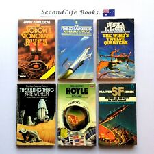 x6 Vintage SPACE SHIP Science Fiction Novels ~ Leguin Hoyle Malzberg. Book Lot.