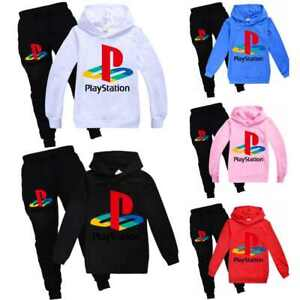 Kids playStation Hoodies Hooded+Pants Trousers Tracksuit Outfit 2PCS Set Gift