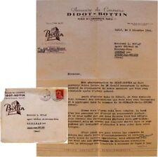 Courrier commercial 1946 Didot-Bottin annuaire commerce réponse erreur annonce