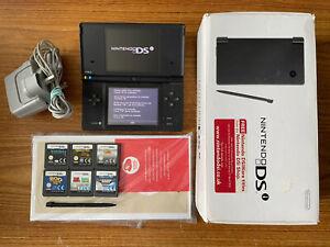 Nintendo DSi Black Boxed Handheld System Console Bundle +6 Games & Charger