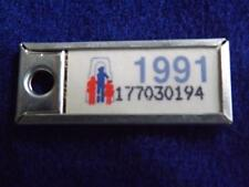 MINI LICENSE PLATE ONTARIO 1991 177030194 WAR AMPS CANADA TAG KEY RING COLLECTOR