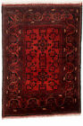 """Vintage Hand-Knotted Carpet 3'4"""" x 4'7"""" Traditional Oriental Wool Area Rug"""