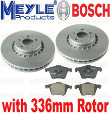 PAIR Front Anti Rust Rotors & Front BREMBO Pads VOLVO XC90 with 336mm Diam Disc