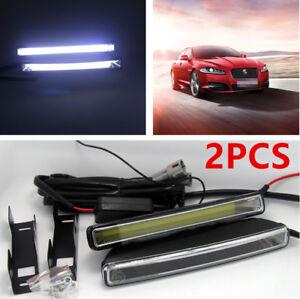 2Pcs Unique 20W COB 6000K Xenon White LED Light DRL Car Driving Fog Lamp Bright