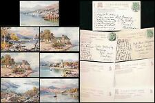 SCOTLAND GARELOCH 1906 TUCKS OILETTE WIMBUSH 7508 SET...7 DIFFERENT CARDS