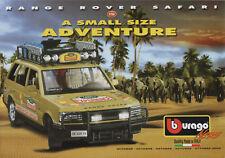 Bburago-Oktober 2002-Range Rover Safari-Renault Alpine A110 1600S-Faltblatt-neu