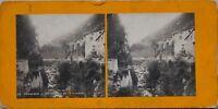 Grenoble Gorges Da La Bourne Francia Foto Stereo PL47 Vintage Analogica c1900
