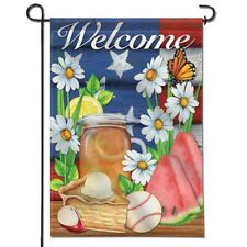 ANLEY Summer Flower Garden Flag Double Sided & Double Stitched Cloth 12.5 x 18In