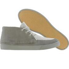 Generic Surplus Mohawk Suede & Jersey Chukka Moccasin Fringe Sneaker Gray sz 9.5