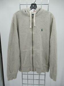 K0045 Polo Ralph Lauren Men's Full-Zip Hoodie Sweatshirt Size L