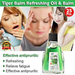 25pcs Tiger Balm Refreshing Oil and Tiger Balm Pain Relief Ointment for headache