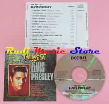 CD ELVIS PRESLEY The best of 1990 italy DECIBEL CD DEC 01(Xs6) lp mc dvd