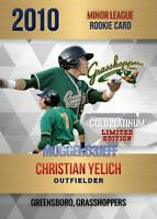 2010 ROOKIE GOLD PLATINUM CHRISTIAN YELICH GREESBORO VERY FIRST MINOR LEAGUE RC!