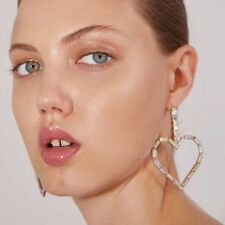 Love Heart Rhinestone Drop Earrings ZARA STYLE  LIMITED STOCK LEFT