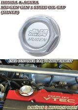 JDM Mu-gen Style Billet Engine Oil Cap Gen-1 (Silver) Fits Integra