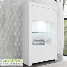 Vetrina 2 ante Firenze Bianco Opaco credenza design moderno salotto